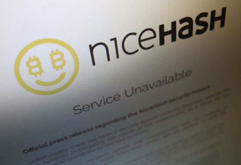 © Reuters. Aviso de serviço indisponível no site da NiceHash