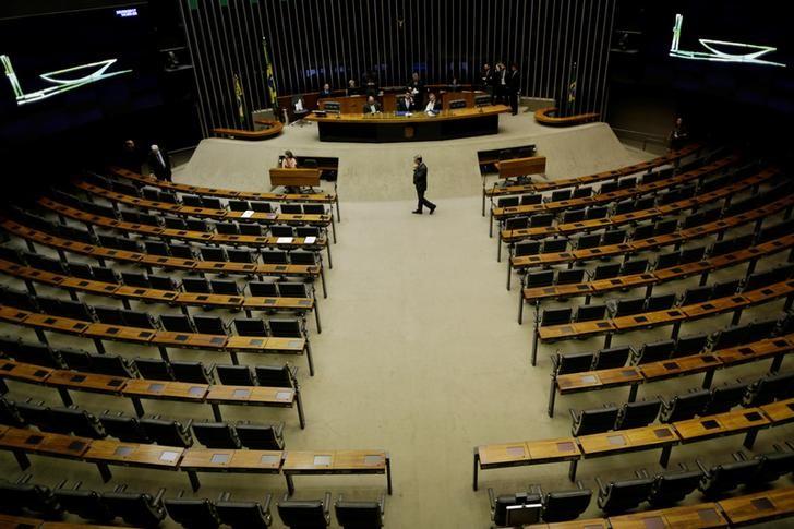 © Reuters. Vista geral do plenário da Câmara dos Deputados