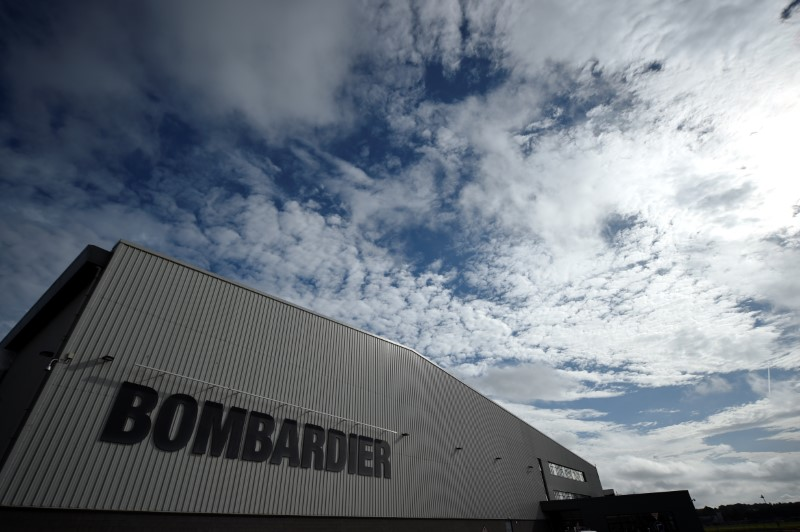 © Reuters. The Bombardier factory is seen in Belfast