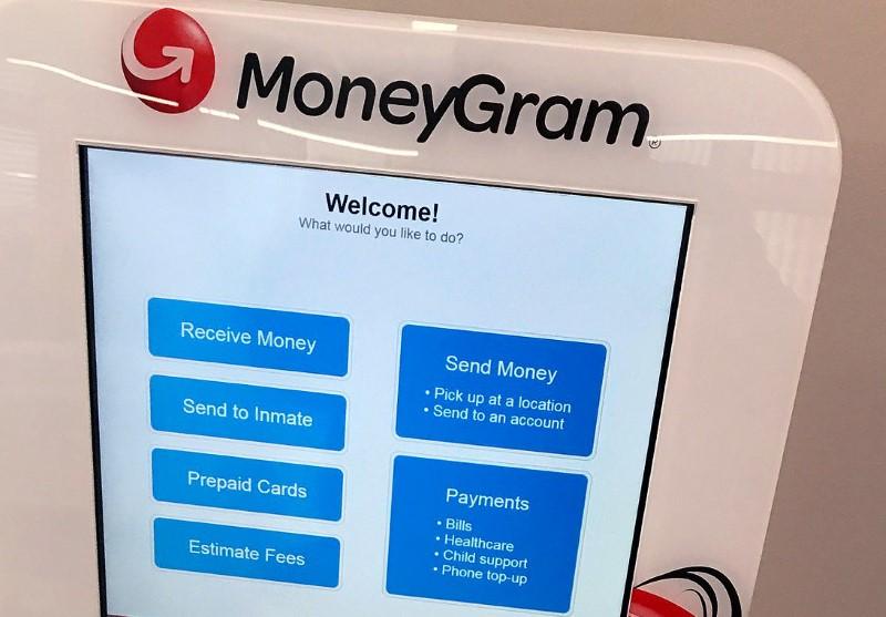 © Reuters. A MoneyGram kiosk is seen in New York