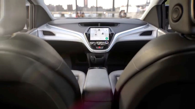 © Reuters. GM's planned Cruise AV driverless car features no steering wheel or pedals