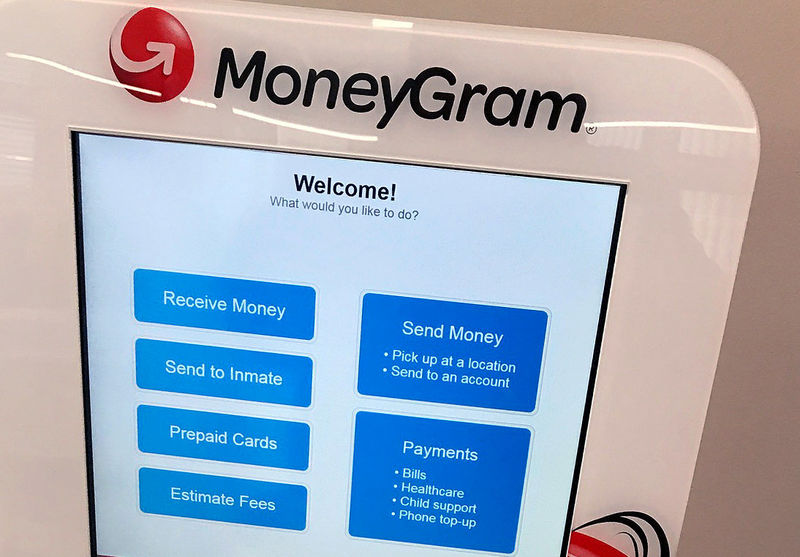 © Reuters. FILE PHOTO: A MoneyGram kiosk is seen in New York