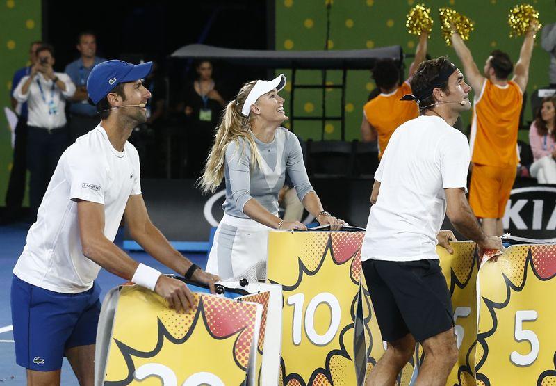 © Reuters. Tennis - Australian Open - Kids Tennis Day - Rod Laver Arena, Melbourne, Australia