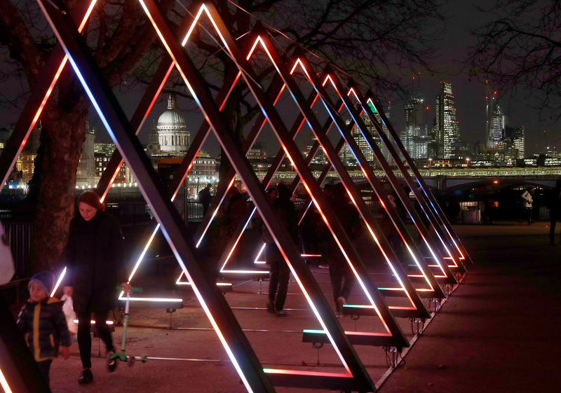 Bright lights, big city: Light art festival takes to London's streets By Reuters
