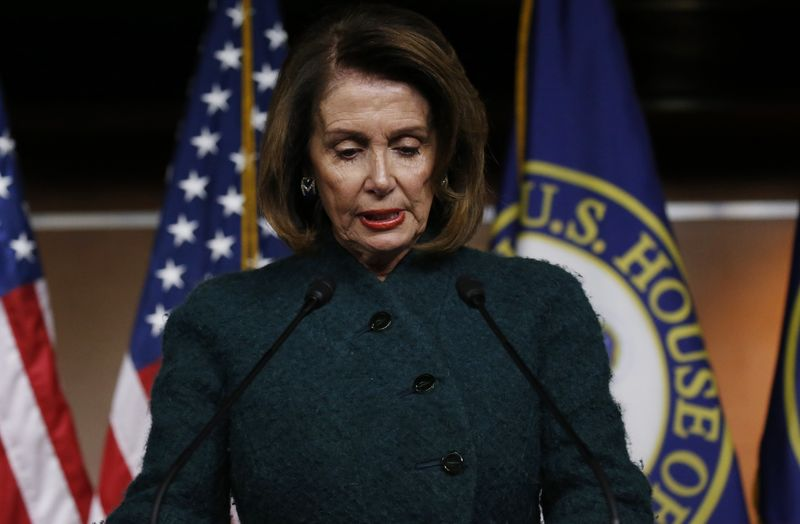 © Reuters. House Minority Leader Pelosi holds weekly news conference at the U.S. Capitol in Washington