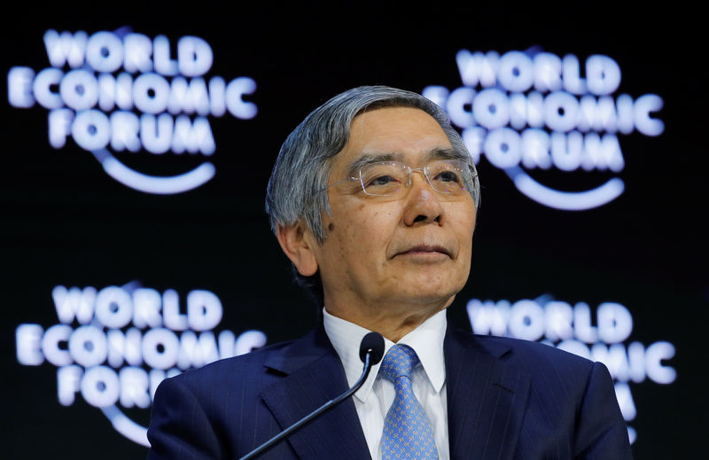 © Reuters. Haruhiko Kuroda, Governor of the Bank of Japan, attends the World Economic Forum (WEF) annual meeting in Davos