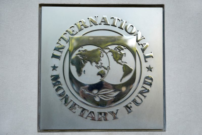 © Reuters. International Monetary Fund logo is seen in Washington