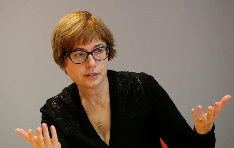 © Reuters. Первый зампред Банка России Ксения Юдаева на саммите Рейтер в Москве