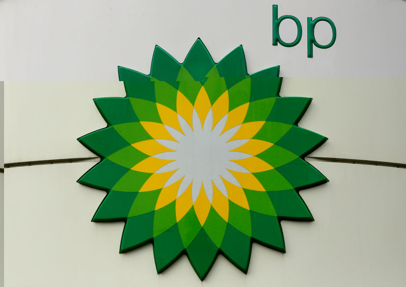 © Reuters. FILE PHOTO: The logo of BP is on display at a petrol station in Moscow