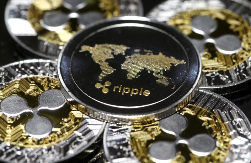 © Reuters. Representation of the Ripple virtual currency is seen in this illustration picture