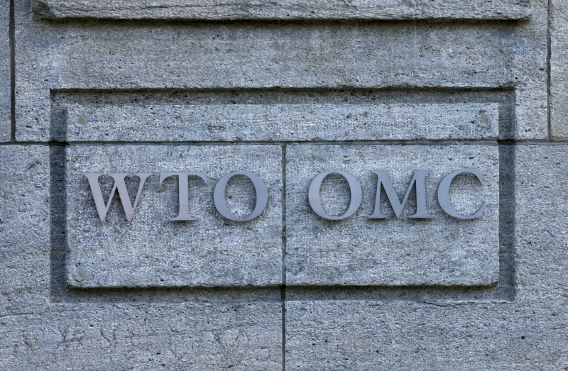 © Reuters. The headquarters of the WTO are pictured in Geneva
