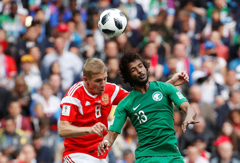 © Reuters. World Cup - Group A - Russia vs Saudi Arabia