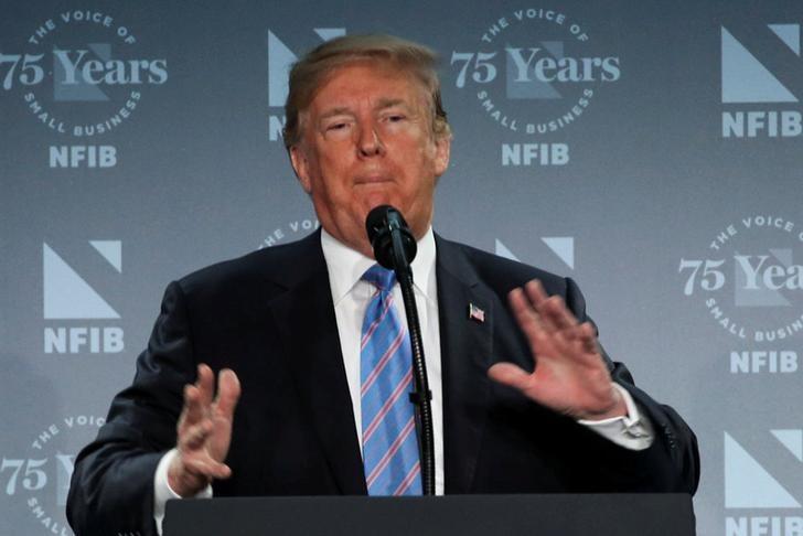 © Reuters. Trump faz discurso em Washington