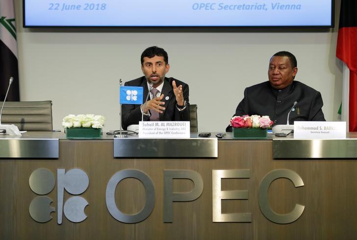 © Reuters. La OPEP no quiere ver volatilidad en el mercado petrolero, dice su presidente