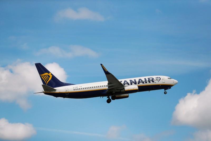 © Reuters. Los pilotos de Ryanair inician su primera huelga en Irlanda