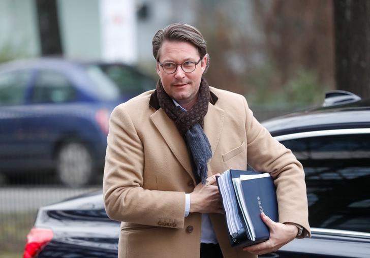 © Reuters. Andreas Scheuer, ministro dos Transportes alemão, em Berlim, Alemanha