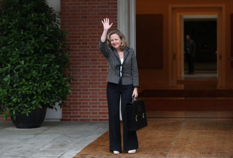 © Reuters. La ministra de Economía española, Nadia Calviño.
