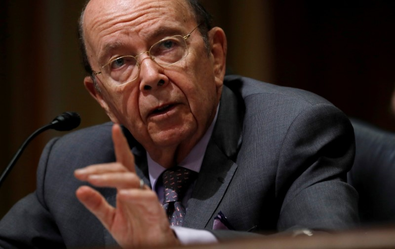 © Reuters. Wilbur Ross testifies on Capitol Hill in Washington