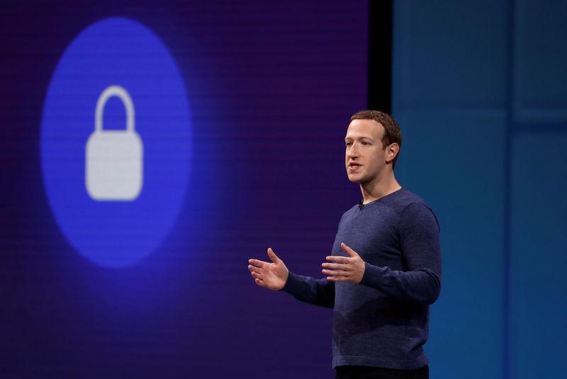 © Reuters. FILE PHOTO: Zuckerberg speaks at Facebook's annual F8 in San Jose