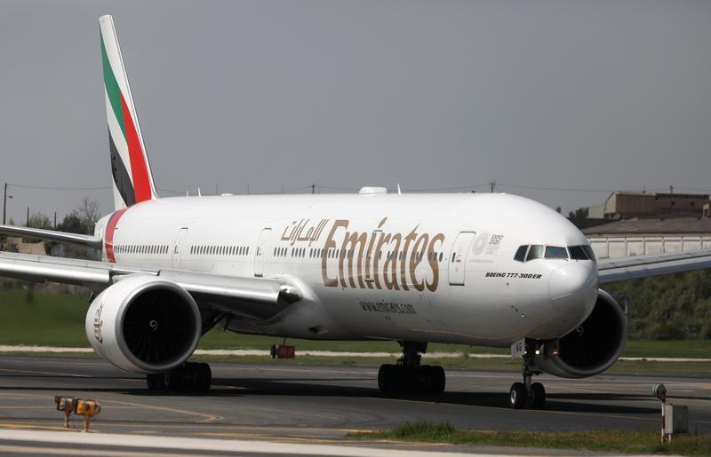 © Reuters. طيران الإمارات تتوقع زيادة في خانة الآحاد في سعة رحلاتها الأمريكية