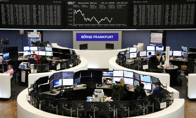 © Reuters. El índice DAX en una pantalla de la Bolsa de Fráncfort