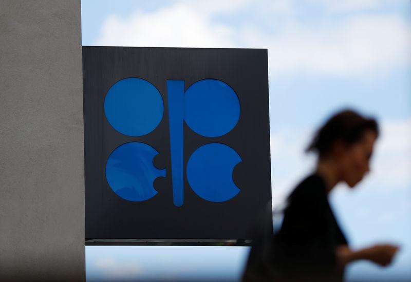 © Reuters. El logo de la Organización de Países Exportadores de Petróleo en su sede en Viena