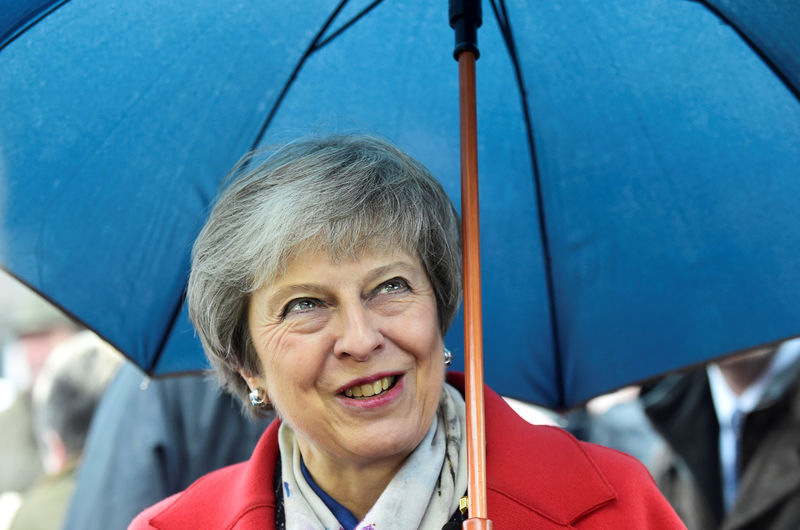 © Reuters. FILE PHOTO: Britain's Prime Minister Theresa May tours the Royal Welsh Winter Fair at the Royal Welsh Showground in Builth Wells, Wales