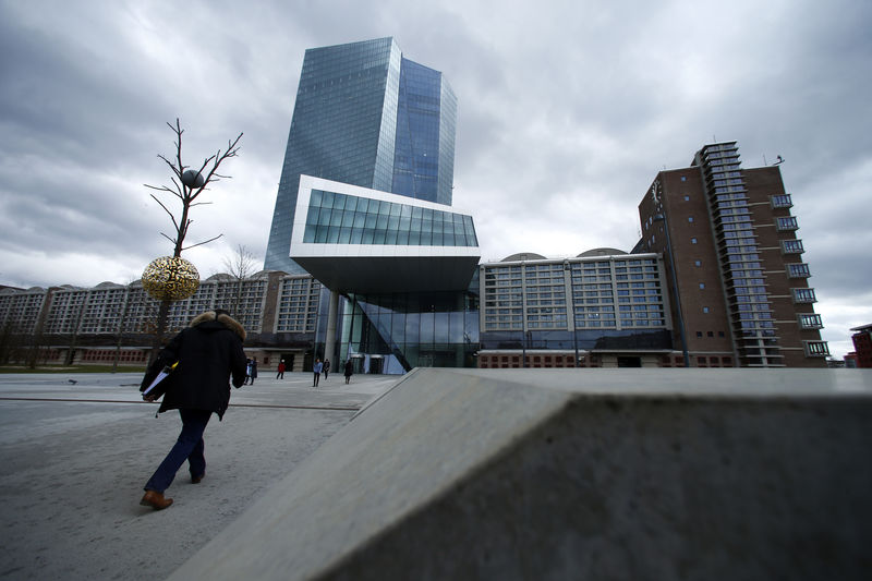 © Reuters. European Central Bank (ECB) headquarters building is seen in Frankfurt