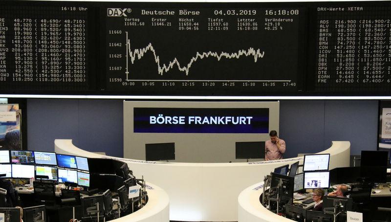 European shares steady, helped by bank merger talk; Safran down