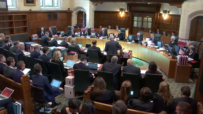 © Reuters. A general view of UK Supreme Court hearing in London