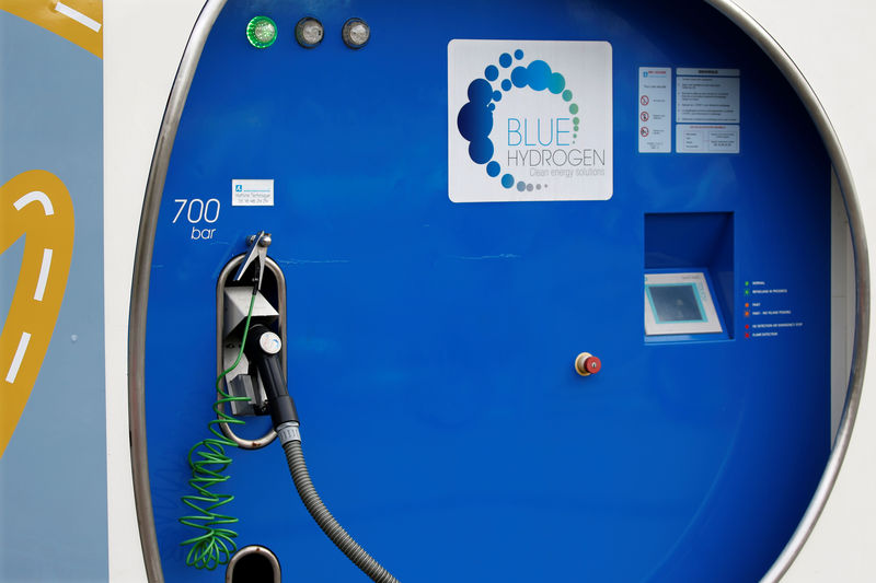 © Reuters. An Air Liquide hydrogen station for hydrogen fuel cell cars is seen in Paris
