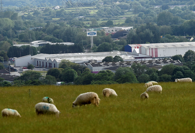 © Reuters. FILE PHOTO: A view of the Ford engine plant at Bridgend