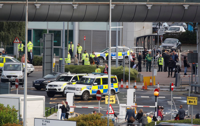 Bomb disposal officers respond to suspect package at Manchester Airpor