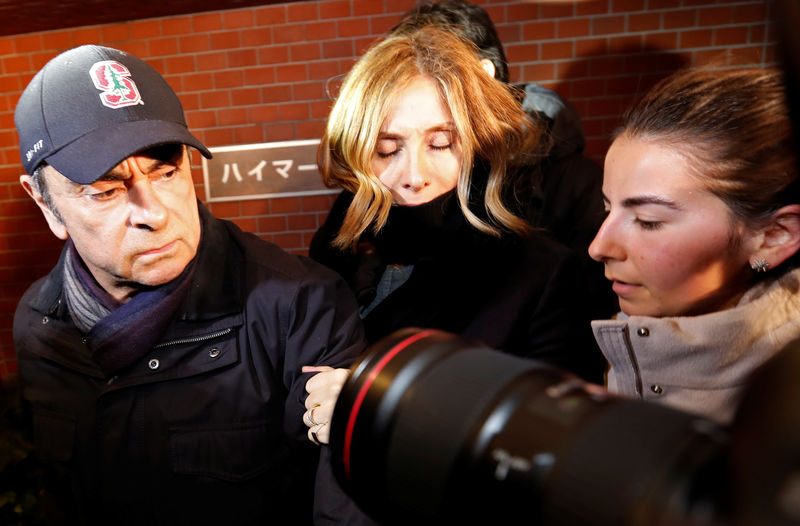 Former Nissan boss Ghosn's wife says he may not get fair trial in Japa