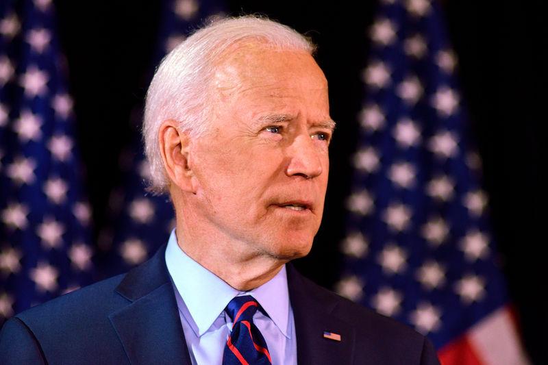 © Reuters. Joe Biden makes a statement on the whistleblower report in Wilmington