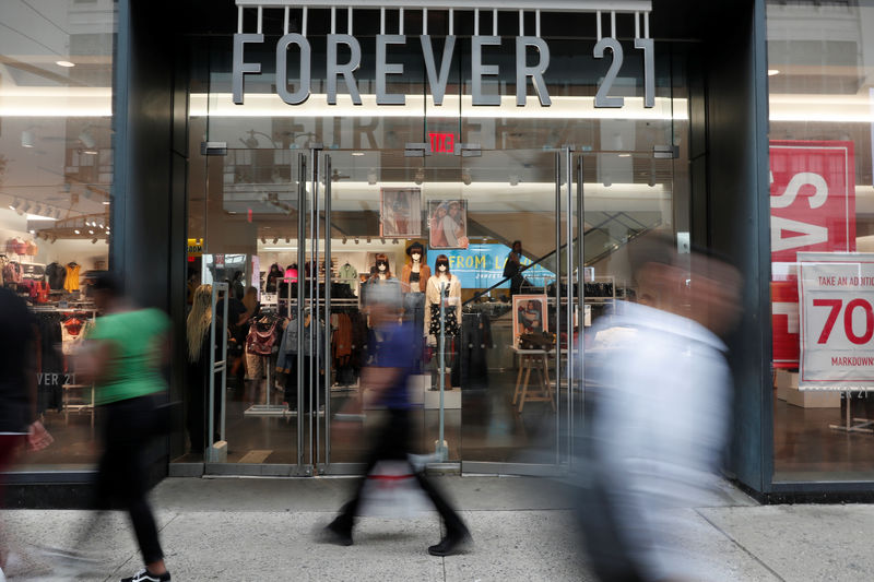 Fashion retailer Forever 21 files for bankruptcy By Reuters