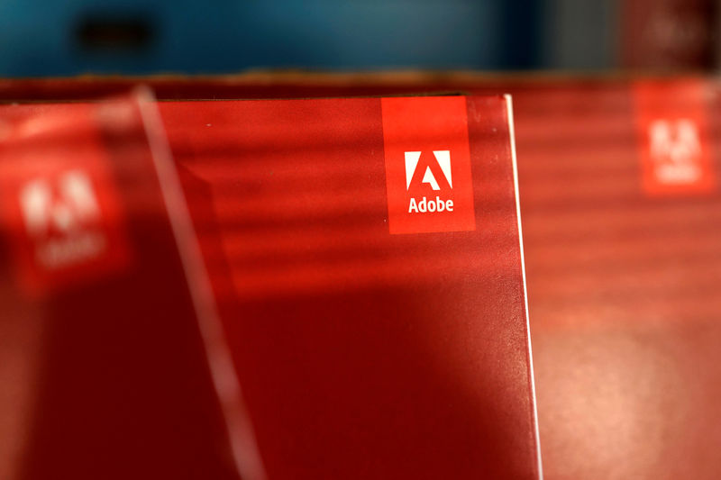 © Reuters. An Adobe Systems Inc software box is seen in Los Angeles