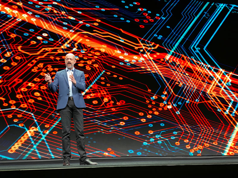 © Reuters. Arm Holdings Inc Chief Executive Simon Segars speaks at the company's annual user conference in San Jose