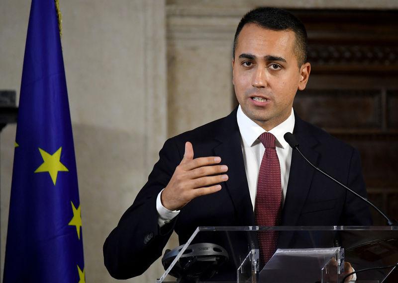 © Reuters. Il ministro degli esteri Luigi di Maio