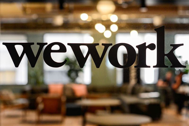 © Reuters. FILE PHOTO: WeWork offices in San Francisco