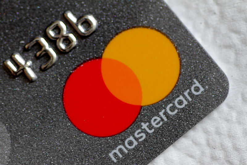 © Reuters. FILE PHOTO: A Mastercard logo is seen on a credit card in this picture illustration