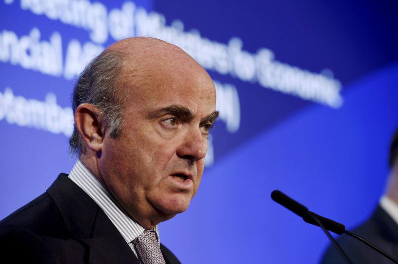 Low valuations hamper euro zone bank mergers: ECB's de Guindos