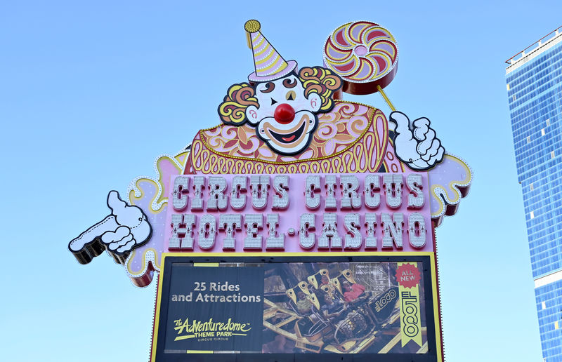 © Reuters. The Circus Circus hotel and casino is seen along the Las Vegas strip