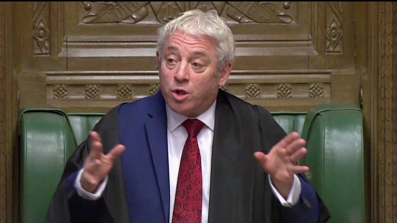 UK speaker rules against government trying to get another vote on Brex
