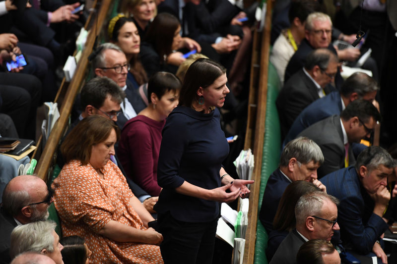 © Reuters. Liberal Democrat leader Jo Swinson is seen at the House of Commons in London