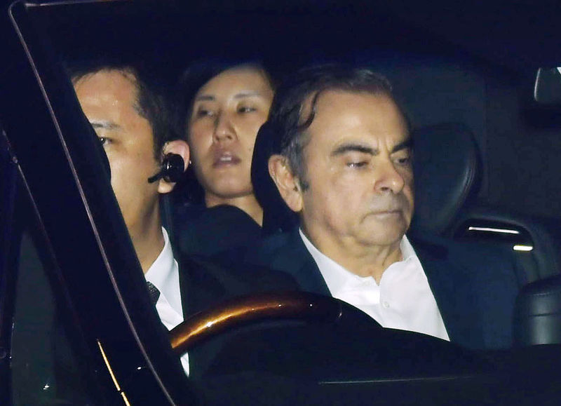 © Reuters. Former Nissan Motor Chairman Carlos Ghosn leaves the Tokyo Detention House in Tokyo