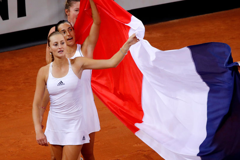 © Reuters. FILE PHOTO:  Fed Cup - World Group Semi-Final - France v Romania