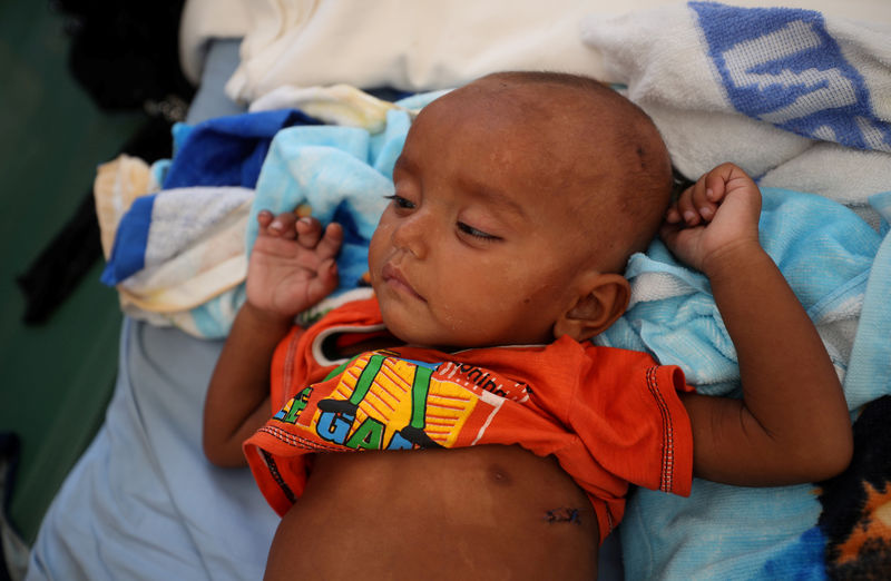 © Reuters. وكالات صحية: الالتهاب الرئوي يقتل طفلا كل 39 ثانية