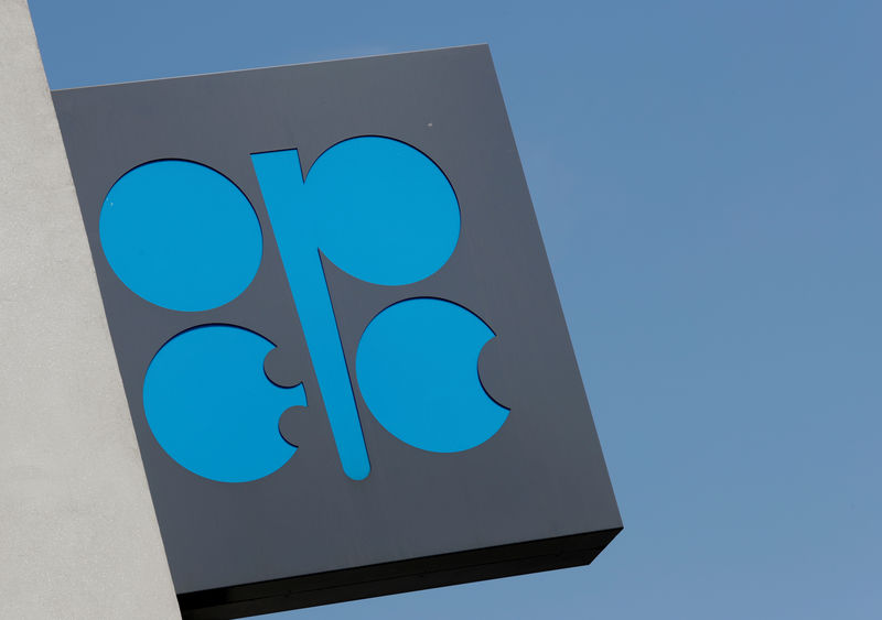 © Reuters. FILE PHOTO: The logo of the Organisation of the Petroleum Exporting Countries (OPEC) is seen at OPEC's headquarters in Vienna