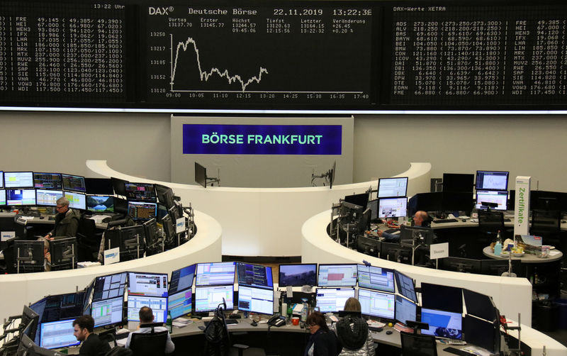 European shares dip as investors seek signs of trade deal progress